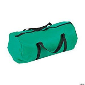 BRAND NEW Green Durable Duffle Satchel School Bag